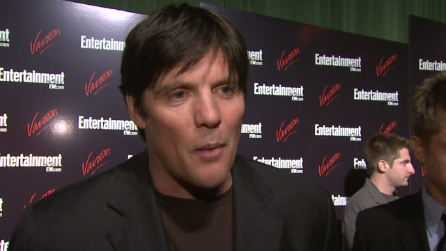 paul johansson talks about what brought him out tonight his show one tree hill and working with the cast how well they get along how he considers... - one tree hill stock videos and b-roll footage