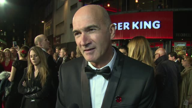 interview paul katis on directing the movie the story and remembrance day at the premiere of kajaki on 12th november 2014 in london england - directing stock videos and b-roll footage