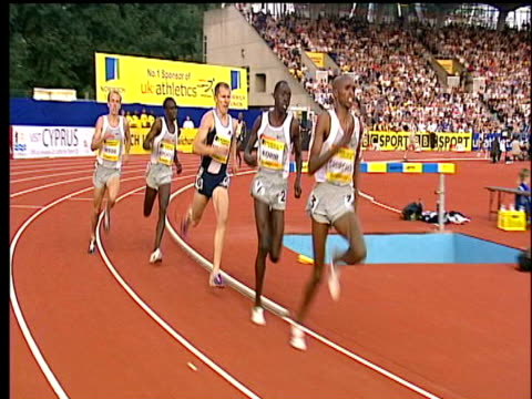 Paul Korir wins Men's mile with Alan Webb in 4th place 2004 Crystal Palace Athletics Grand Prix London