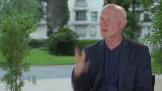 paul laverty screenwriter on how he's witnessed the effects of zero hour contracts on couriers and their families on may 18 2019 in cannes france - scriptwriter stock videos and b-roll footage