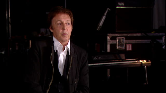 paul mccartney interview on climate change mccartney interview sot became vegetarian in 1970s when eating lamb and watching new born lambs on his... - paul mccartney stock videos & royalty-free footage