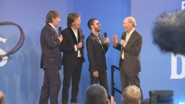 paul mccartney ringo starr ron howard at 'the beatles eight days a week the touring years' uk film premiere on september 15 2016 in london england - ringo starr stock videos and b-roll footage
