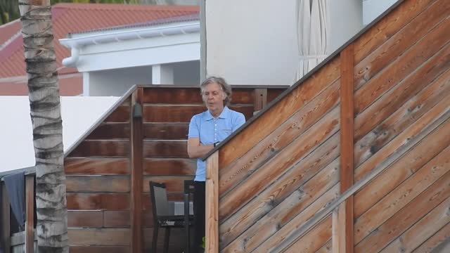 paul mccartney spent his all day inside his beach house in saint barthelemy, only showing once to have a look at the beach saint barthelemy, france... - french overseas territory stock videos & royalty-free footage