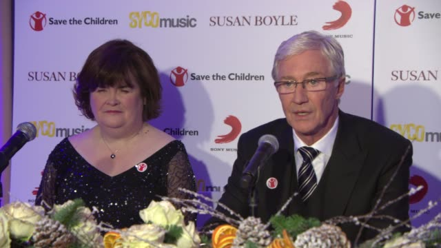 stockvideo's en b-roll-footage met interview paul o'grady on the work 'save the childern' does at susan boyle press conference at sony music on october 28 2013 in london england - paul o'grady