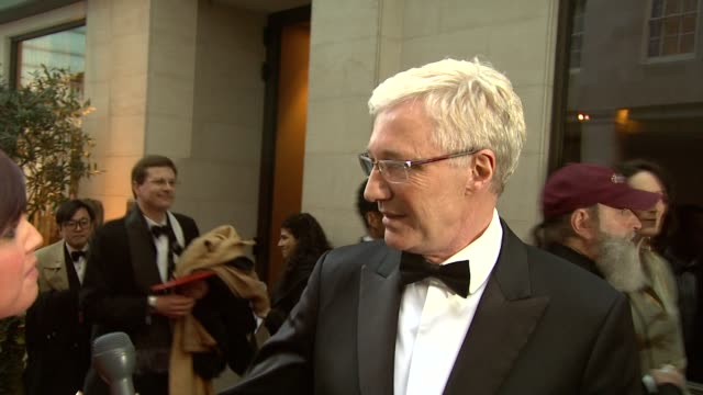 paul o'grady on writing a book on taking time off at the 2010 laurence olivier awards at london england - paul o'grady stock videos & royalty-free footage