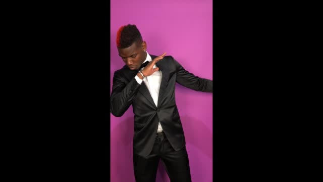 paul pogba poses in the studio during the mtv emas 2017 held at the sse arena wembley on november 12 2017 in london england - wembley arena stock videos and b-roll footage
