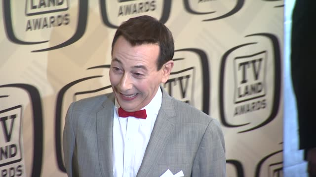 paul reubens at tv land awards 10th anniversary arrivals at lexington avenue armory on april 14 2012 in new york ny - tv land awards stock videos and b-roll footage