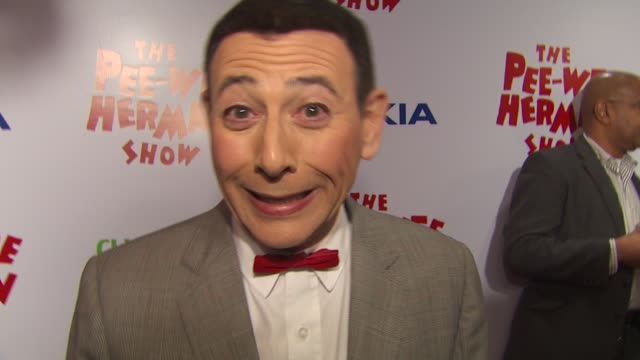 Paul Reubens on the event and show at the 'The Peewee Herman Show' Opening Night at Los Angeles CA