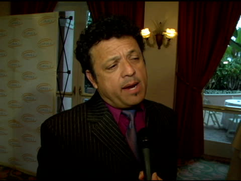paul rodriguez, with humorous sarcasm, on why he is supporting the cause, on wayne newton inviting him, on the food being good at the 6th annual... - wayne newton stock videos & royalty-free footage