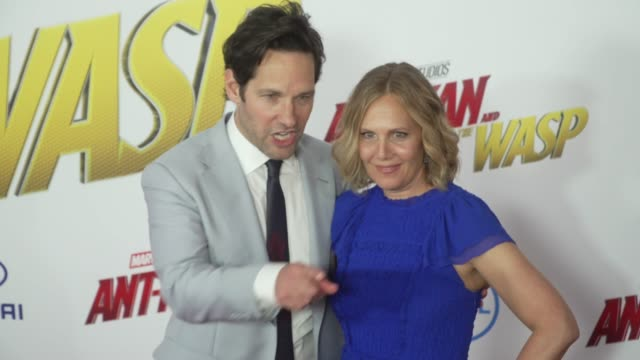 Paul Rudd and Julie Yaeger at the El Capitan Theatre on June 25 2018 in Hollywood California