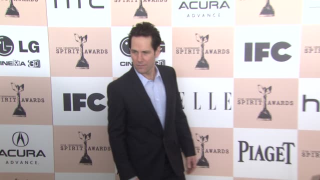 paul rudd at the 2011 independent spirit awards arrivals part 2 at santa monica ca - independent feature project stock videos & royalty-free footage