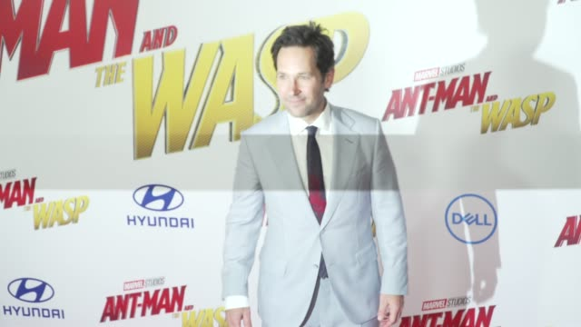 Paul Rudd at the AntMan and the Wasp World Premiere at the El Capitan Theatre on June 25 2018 in Hollywood California