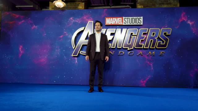 Paul Rudd during the 'Avengers Endgame' UK Fan Event at Picturehouse Central on April 10 2019 in London England