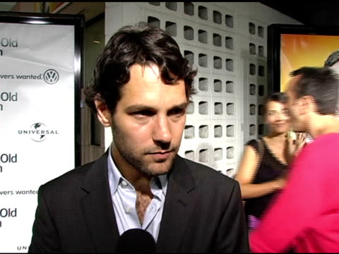 paul rudd on being buddies with his costars on improving his character on why to watch the movie on not intervening with his friend's sex life at the... - arclight cinemas hollywood stock videos and b-roll footage