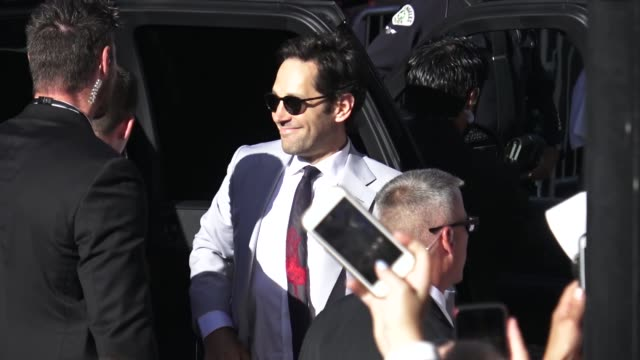 Paul Rudd signs for fans outside the AntMan and the Wasp premiere in Hollywood in Celebrity Sightings in Los Angeles