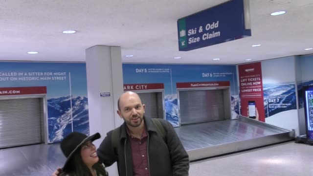 Paul Scheer arriving to Sundance at Salt Lake City Airport in Celebrity Sightings in Salt Lake City UT