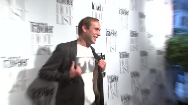 dj paul sevigny at the conde nast traveler hot list party 2009 at new york ny - three 6 mafia stock videos and b-roll footage