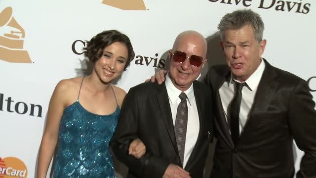 stockvideo's en b-roll-footage met paul shaffer and david foster at the 2016 pregrammy gala and salute to industry icons honoring irving azoff at the beverly hilton hotel on february... - irving azoff
