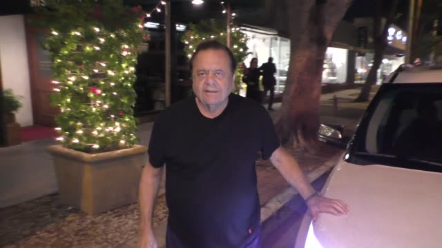 paul sorvino weighs in on matt lauer sexual misconduct allegation in west hollywood in celebrity sightings in los angeles, - matt lauer stock videos & royalty-free footage