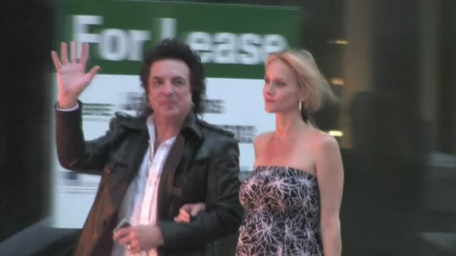 paul stanley erin sutton arrive at rimowa rodeo drive store opening in beverly hills - store opening stock videos & royalty-free footage