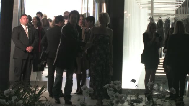 paul stanley erin sutton leaving rimowa rodeo drive store opening in beverly hills - store opening stock videos & royalty-free footage