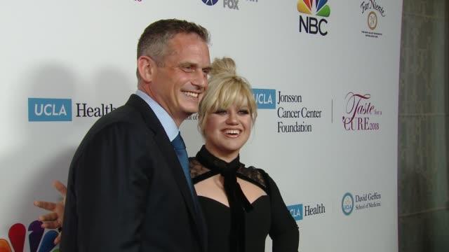 Paul Telegdy, Kelly Clarkson at UCLA Jonsson Cancer Center