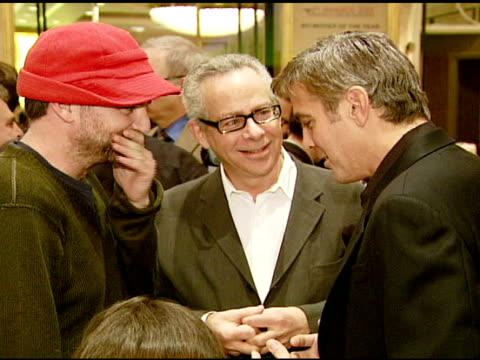 paul thomas and george clooney at the 2007 afi awards honors creative teams at four seasons hotel in los angeles calfironia on january 11 2008 - 2008 stock videos & royalty-free footage
