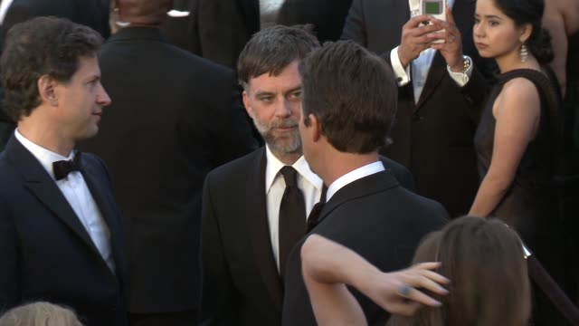 vídeos de stock e filmes b-roll de paul thomas anderson at the 87th annual academy awards - arrivals at dolby theatre on february 22, 2015 in hollywood, california. - the dolby theatre