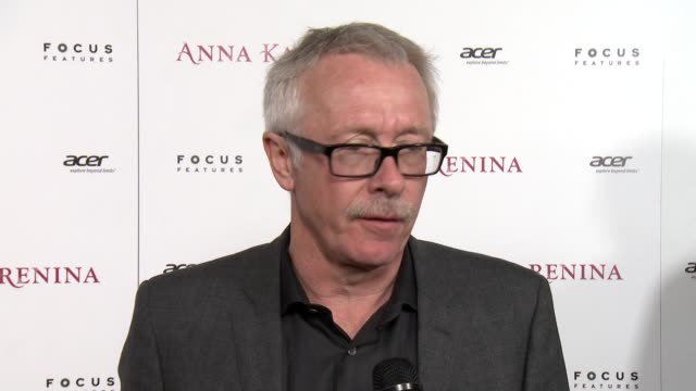 paul webster on how many costumes and set changes the film had, joe wright's direction and vision for the film at anna karenina premiere presented by... - ジョーライト点の映像素材/bロール