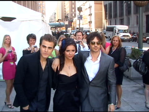 Paul Wesley Nina Dobrev and Ian Somerhalder at Madison Square Garden at the Celebrity Sightings in New York at New York NY