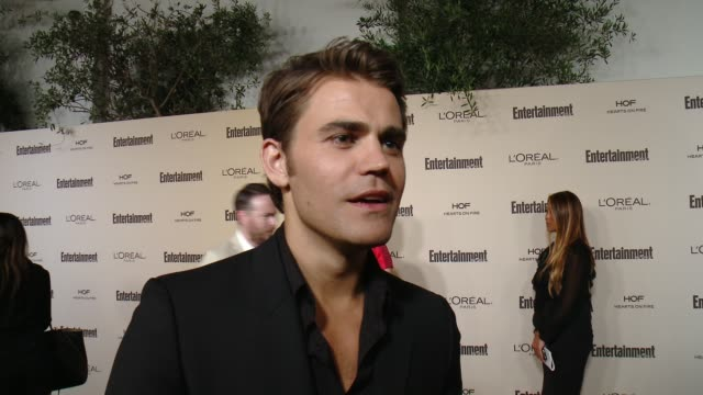 interview paul wesley on favorite television moments from this past season and on what entertainment weekly means to them at entertainment weekly's... - entertainment weekly stock videos and b-roll footage