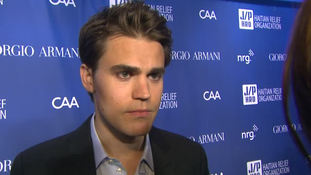 INTERVIEW Paul Wesley on what he admires about Sean Penn at 3rd Annual Sean Penn Friends 'Help Haiti Home' Gala Presented By Giorgio Armani To...