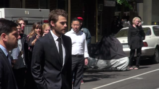 Paul Wesley walking into CW Upfronts in Celebrity Sightings in New York