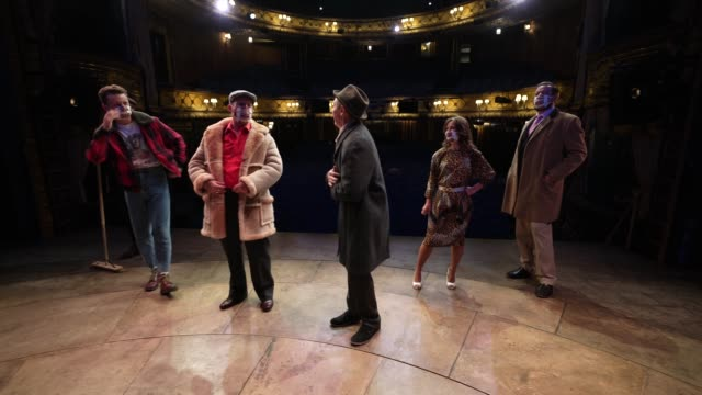 paul whitehouse and cast on stage at theatre royal haymarket on september 3, 2020 in london, england. - theatre royal haymarket stock videos & royalty-free footage