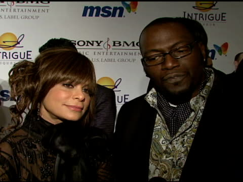 paula abdul and randy jackson on the event and clive davis at the clive davis 2008 pregrammy awards party at null in beverly hills california on... - paula abdul stock videos & royalty-free footage