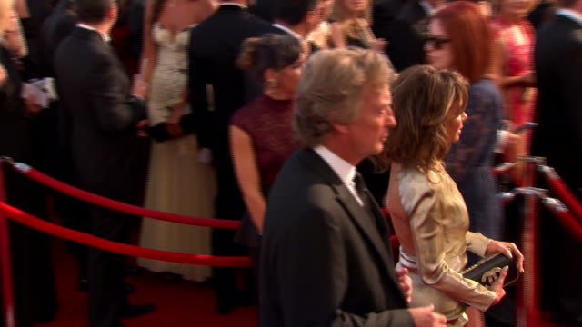 paula abdul arrives at the 2013 emmy awards. - emmy awards stock videos & royalty-free footage