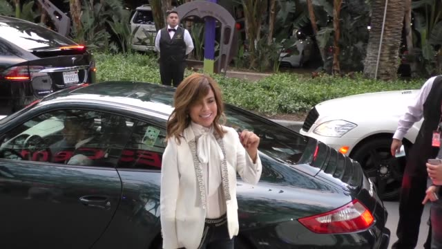 paula abdul arriving to see kobe bryant's final game at staples center in los angeles celebrity sightings on april 13 2016 in los angeles california - paula abdul stock videos & royalty-free footage