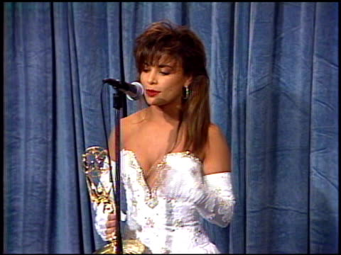 paula abdul at the 1989 emmy awards backstage at the pasadena civic auditorium in pasadena california on september 17 1989 - emmy awards stock videos & royalty-free footage