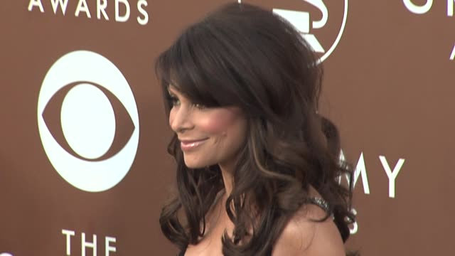 paula abdul at the 2006 grammy awards arrivals at the staples center in los angeles california on february 8 2006 - paula abdul stock videos & royalty-free footage