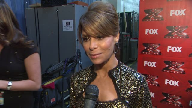 paula abdul on working as a mentor on the show and on working with simon cowell again - paula abdul stock videos & royalty-free footage