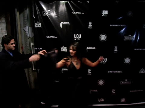 vídeos de stock, filmes e b-roll de paula garc�s at the dons and diva's black party hosted by mary j blige and presented by wendy williams at crobar in new york, new york on december... - crobar