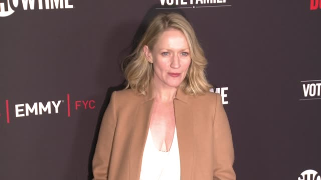 """paula malcomson at for your consideration screening and panel for showtime's """"ray donovan"""" - red carpet at paramount theater on the paramount studios... - showtime video stock e b–roll"""
