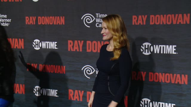 """paula malcomson at showtime and time warner cable celebrate season two of """"ray donovan"""" in los angeles, ca 7/9/14 - showtime video stock e b–roll"""