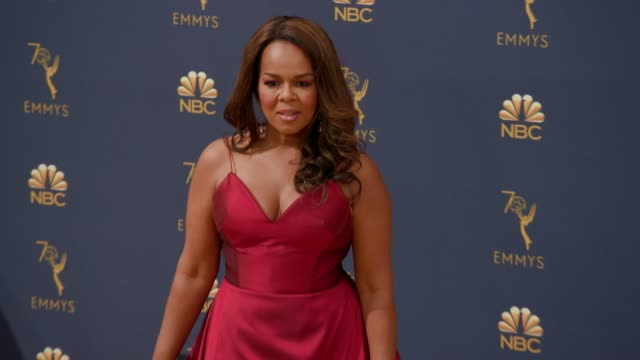 paula newsome at the 70th emmy awards arrivals at microsoft theater on september 17 2018 in los angeles california - 70th annual primetime emmy awards stock videos and b-roll footage