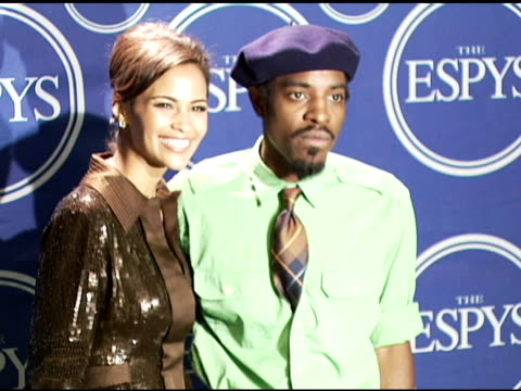 Paula Patton and André 3000 of OutKast at the 2006 ESPY Awards press room at the Kodak Theatre in Hollywood California on July 12 2006
