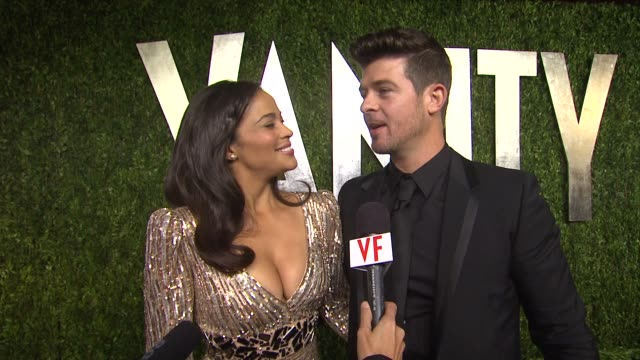 INTERVIEW Paula Patton and Robin Thicke at The 2013 Vanity Fair Oscar Party Hosted By Graydon Carter INTERVIEW Paula Patton and Robin Thicke at The...