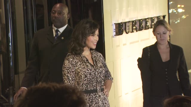 paula patton at the burberry beverly hills store re-opening at los angeles ca. - beverly hills点の映像素材/bロール