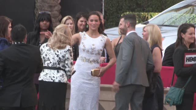 Paula Patton greets fans at the SAG Awards at The Shrine Auditorium in Los Angeles Celebrity Sightings in Los Angeles CA on