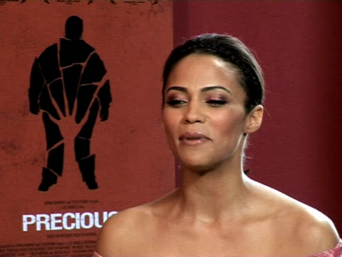 paula patton on the positive reception of the film screening at the cannes film festival 2009 precious interviews at cannes - film screening stock videos & royalty-free footage
