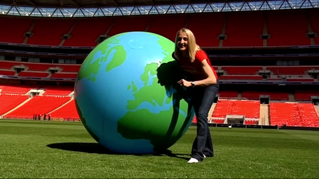 Paula Radcliffe launches competition to find which city's population makes best distance runners ENGLAND London Wembley Stadium EXT Various of Paula...